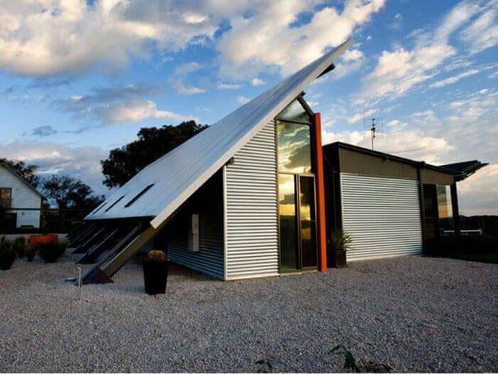 colorbond metal roofing skillion roof