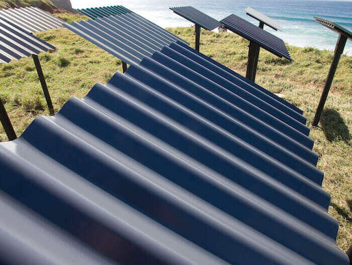 testing colorbond metal roofing