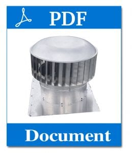commercial industrial roof ventilator