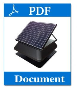 solar roof ventilator sydney