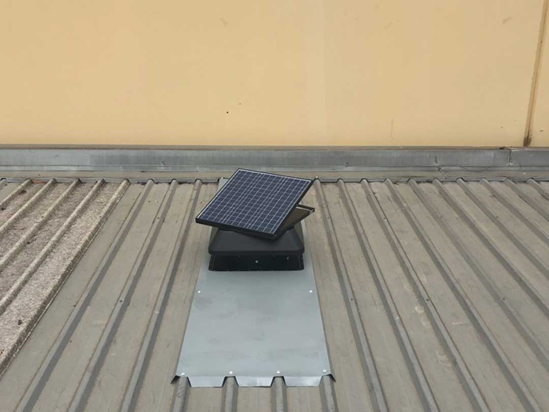 Commercial Whirlybird solar vents