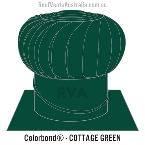cottage green roof vent whirlybird