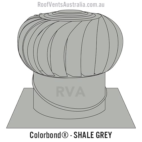 roof vent colorbond shale grey whirlybird sydney