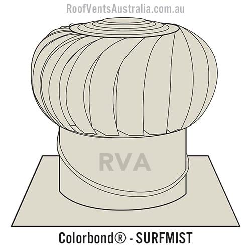 roof vent colorbond surfmist sydney