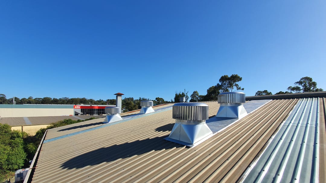 New Skylight Roof Panels and 950mm Ampelite Roof Ventilators Sydney