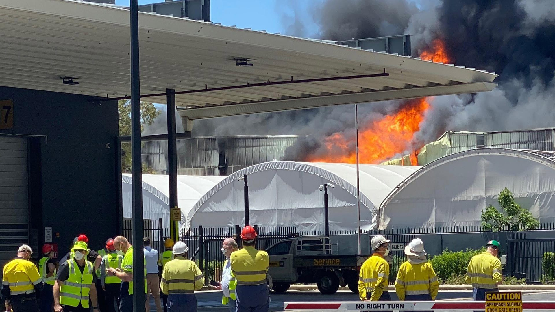 Fire Sydney Warehouse