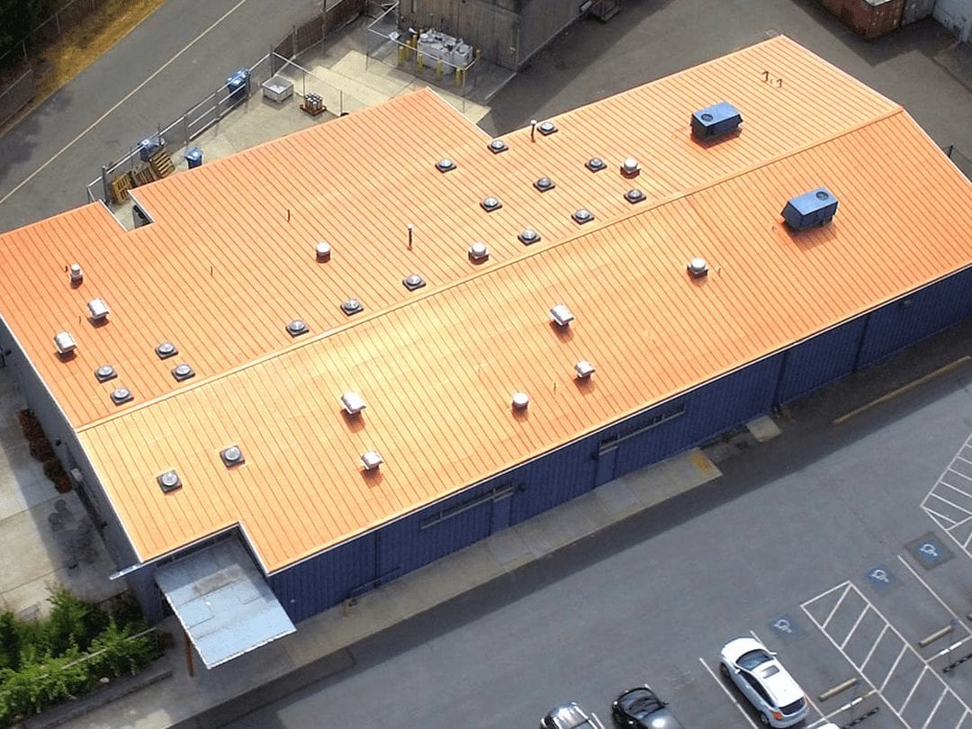 Copper commercial roof sydney north
