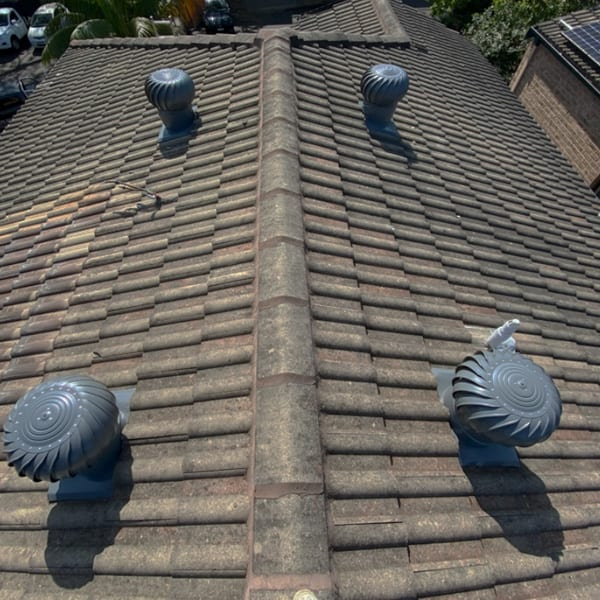 Whirlybird roof vents
