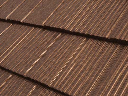 Commercial roofing slate look