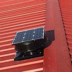 solar roof vent installation