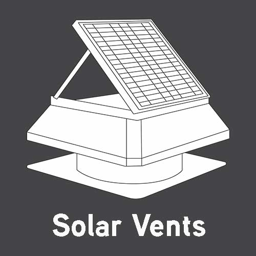 static solar mini vents roof vents commercial vents - industrial whirlybirds