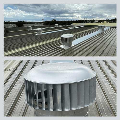industrial roof vent whirlybirds commercial sydney