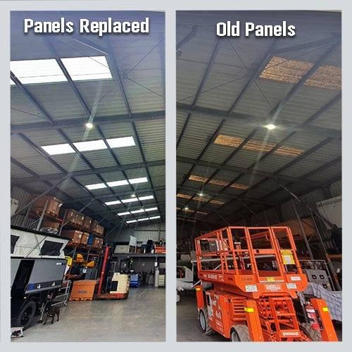 ampelite fibreglass commercial industrial roof panels sheets