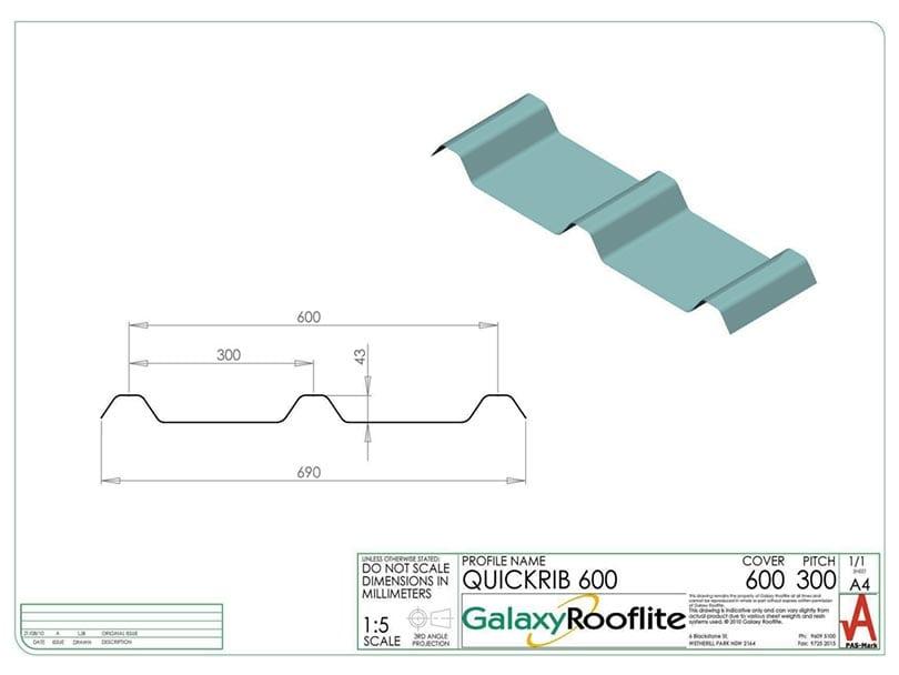 quick-rib-600-fibreglass-roofing-panel-profile