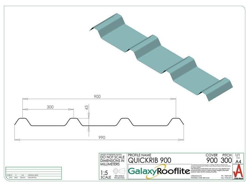 quickrib-900-fibreglass-roofing-panel-profile