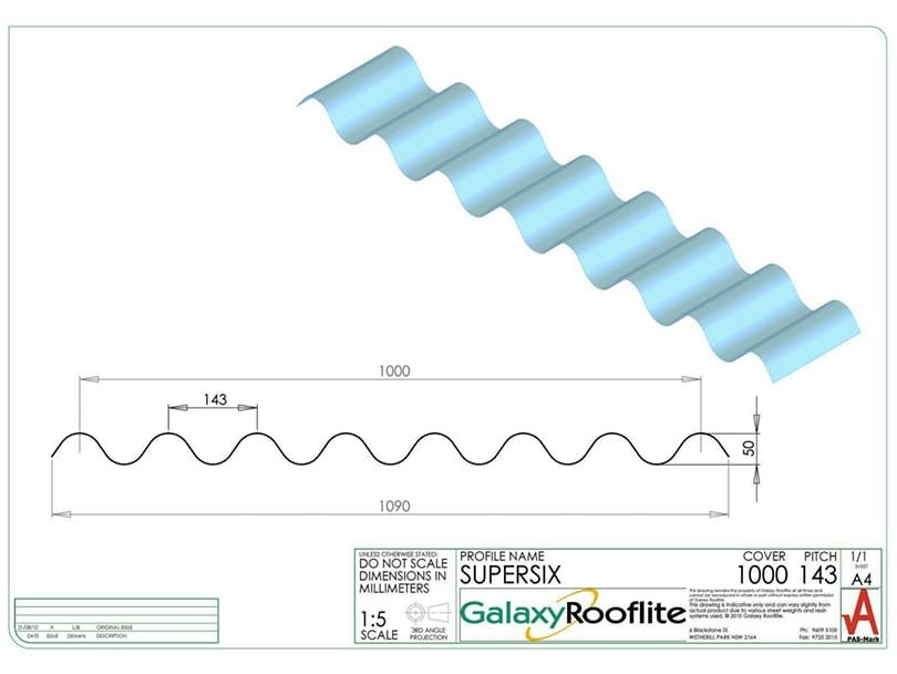 SUPERSIX-Fibreglass roofing Panels