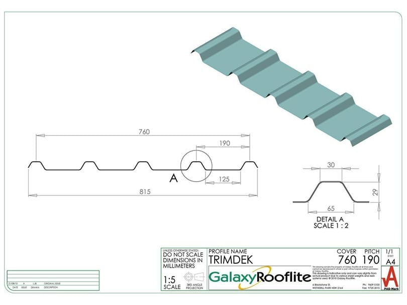 TRIMDEK-Fibreglass Roofing Panels