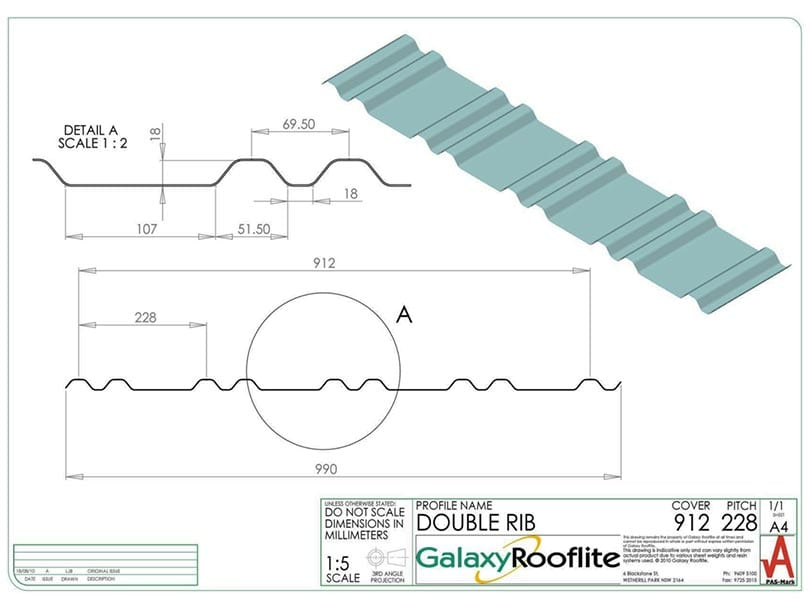 double-rib-fibreglass-roofing-panel-profile