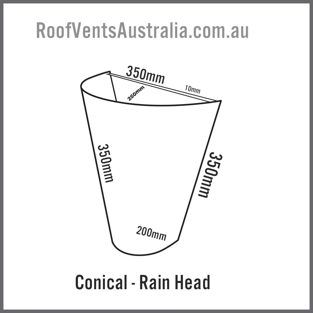 conical rainwater head colorbond australia